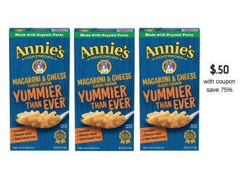 Annie's Homegrown Mac & Cheese Coupon = $0.50 Each at Safeway