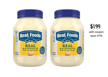 Best Foods Mayo Coupon & Sale = $1.99 at Safeway