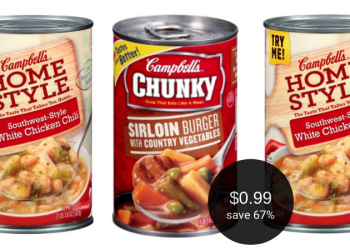 Campbell's Chunky or Home Style Soup for $0.99 at Safeway