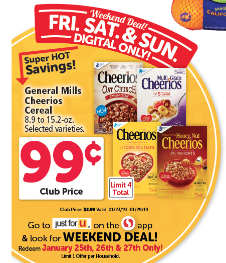 graphic regarding Cheerios Coupons Printable referred to as 99 Cheerios Cereal or as Minimal as 4 Free of charge Bins With Coupon codes at