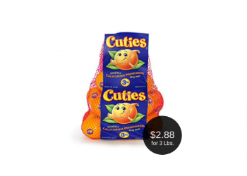 Cuties Clementines for $2.88 at Safeway (3 Pound Bags)