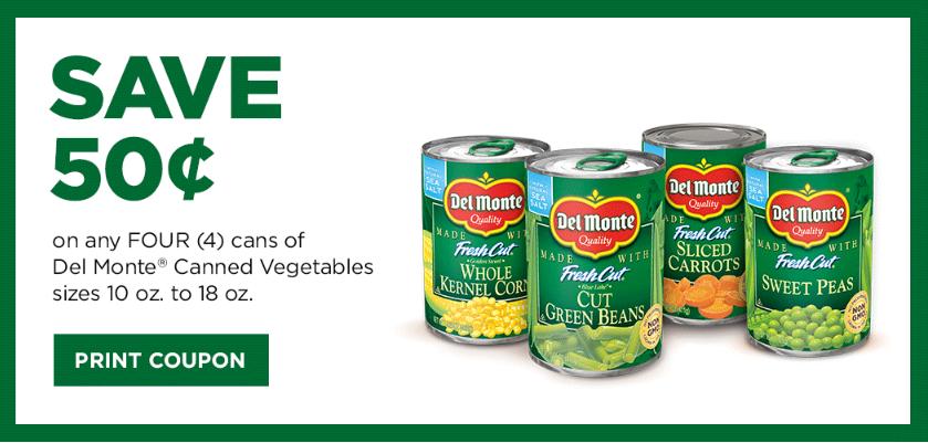 Del Monte Vegetables Coupon