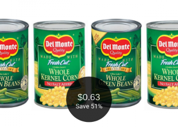 Del Monte Vegetables Coupon and Sale, Pay Just 63¢ Per Can at Safeway
