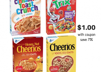 General Mills Cereal Sale  – Get Cereal for $.75 – $1.00 With Coupons at Safeway