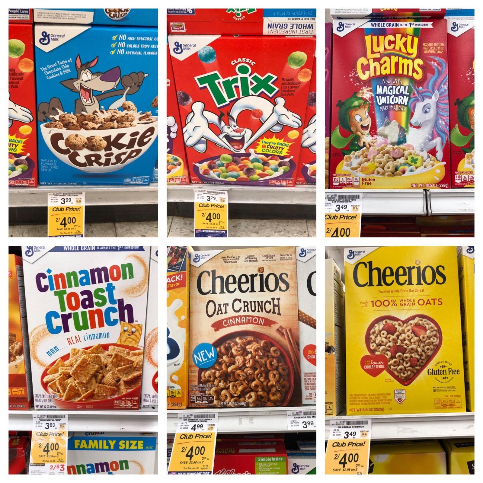General Mills Cereal Sale