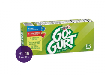 Go-Gurt Coupons = $1.49 for Yogurt 8 Packs at Safeway ($0.19 Per Tube)