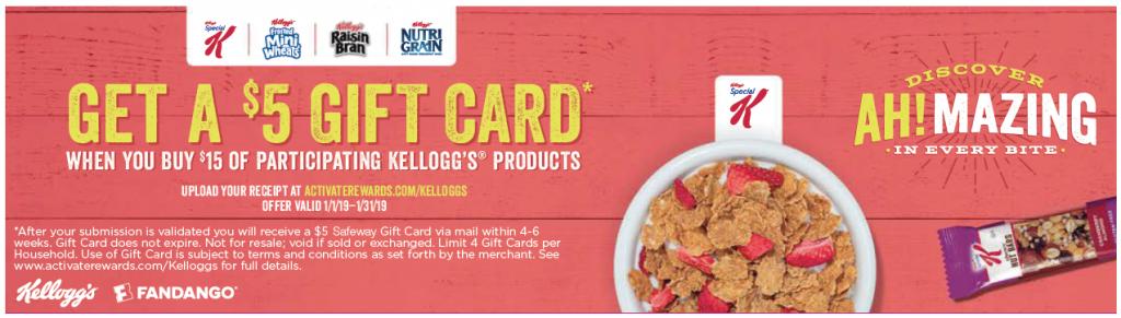 Kellogg's $5 Gift Card
