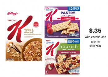Get Special K Cereal and Bars for Just $.35 a Box with New Kellogg's Special K Coupons and Sale at Safeway!