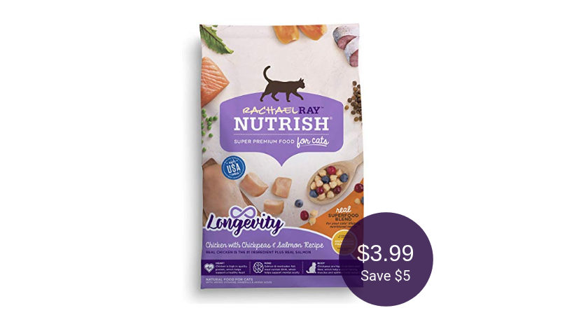 photograph about Rachael Ray Cat Food Printable Coupons known as Nutrish Dry Cat Meals Coupon Sale, Pay out $3.99 (Help save $5 at