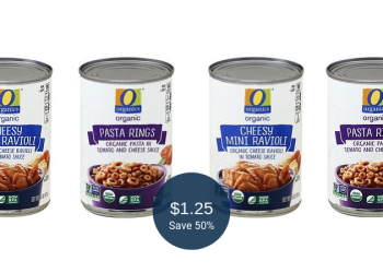 O Organics Ravioli or Pasta Rings for $1.25 at Safeway (Save 50%)