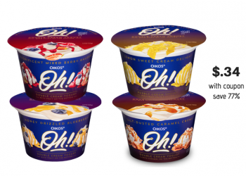 New Oikos Oh! Yogurt Coupon and Sale at Safeway – Pay Just $.34  a Cup