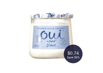 Oui Yogurt Coupon, Pay $0.74 at Safeway (Save 50%)