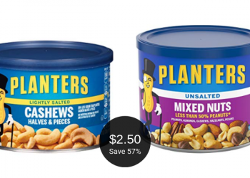 Planters Cashews or Mixed Nuts = as Low as $2.50 at Safeway
