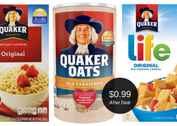 Quaker Coupons = $0.99 for Oatmeal or Cereal at Safeway