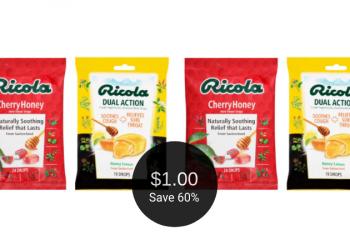 NEW Ricola Cough Drops Coupon = $1.00 Per Bag at Safeway