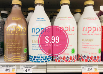 NEW Ripple Milk Coupon, Pay Just $.99 for 48 oz Ripple Plant-Based Milk at Safeway (Reg. $4.99)