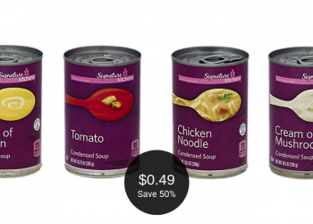 Signature Kitchens Condensed Soup on Sale = $0.49 Per Can at Safeway