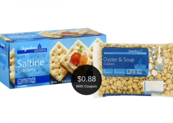 Signature Kitchens Saltines or Oyster Crackers for $0.88 at Safeway