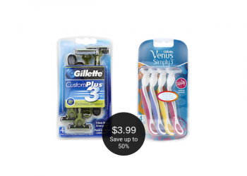 Gillette or Venus Disposable Razors for $3.99 at Safeway (Save up to 50%)