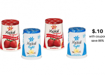 Yoplait Coupons = as Low as $0.10 Per Cup at Safeway (Save up to 86%)