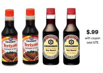 Kikkoman Soy Sauce Just $.99 With Coupon and Sale at Safeway (Reg. $2.99)