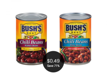 Bush's Chili Beans for as Low as $0.49 at Safeway