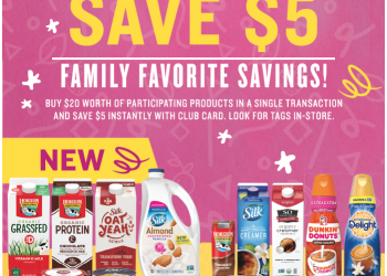 Spend $20, Save $5 Instantly on Participating Whitewave and Dannon Products at Safeway