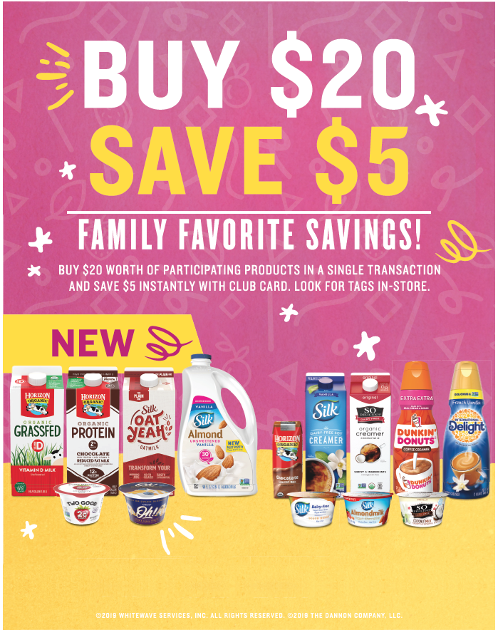 Buy 20 Save $5 Whitewave and Dannon Promotion at Safeway