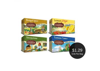 Celestial Seasonings Coupons = $1.29 for Colorado Local Tea at Safeway