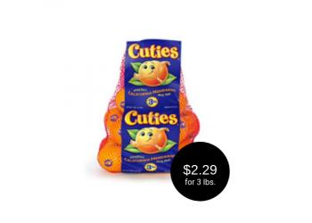 Cuties Mandarins for as Low as $2.29 at Safeway (3 Lbs.)