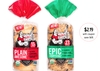 Dave's Killer Bread Organic Bagels for $2.19 at Safeway