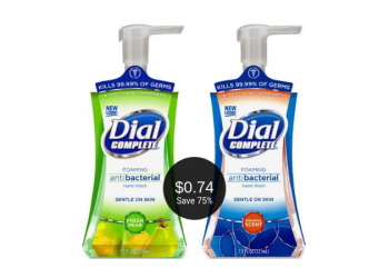 Dial Complete Foaming Hand Wash Coupon and Sale, Pay Just $.74 at Safeway (Save 75%)