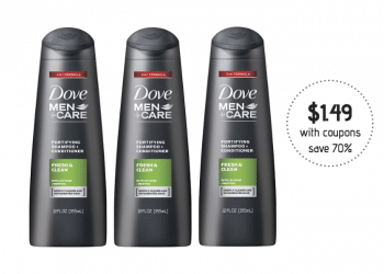 Dove Men+Care Hair Care and Body Wash Just $1.49 at Safeway (Reg. $4.99)