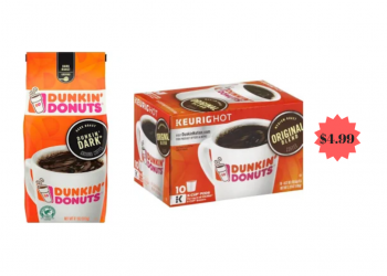 Dunkin Donuts K Cups & Ground Coffee $4.99 at Safeway
