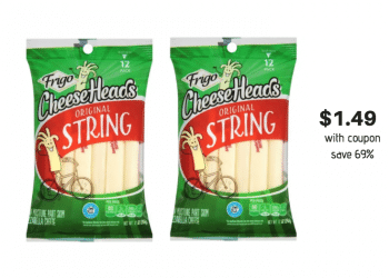NEW Frigo CheeseHeads Coupon, Pay Just $1.49 for 12 ct. String Cheese at Safeway