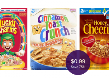 General Mills Cereal Coupons, Pay Just $.99 for Honey Nut Cheerios, Cinnamon Toast Crunch, & Lucky Charms at Safeway
