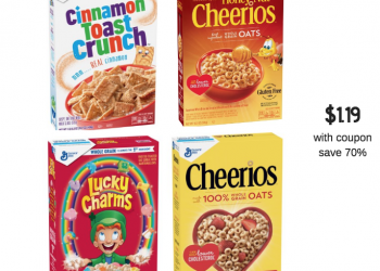 General Mills Cereals Just $1.19 Each With Coupon at Safeway