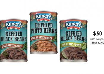 Kuner's Southwest Refried Beans Just $.50 After Coupon & Sale at Safeway