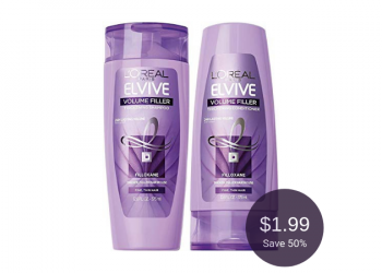 L'Oreal Elvive Shampoo or Conditioner for $1.99 at Safeway