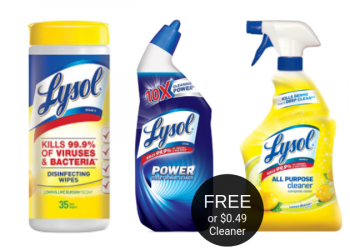 More FREE Lysol Wipes & Toilet Bowl Cleaner | $0.49 All Purpose Cleaner at Safeway
