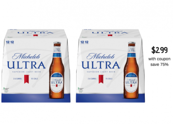 New Beer Coupons – Get Michelob Ultra 12 Packs for Just $2.99 Each and Save 75%!