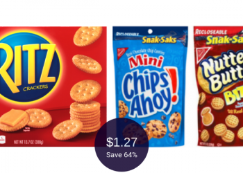 Nabisco Snack Saks or Ritz Crackers for $1.27 Each at Safeway
