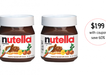 Nutella Hazelnut Spread Coupon and Sale, Pay Just $1.99 at Safeway (Reg. $4.99)