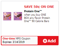 Protein One Bars