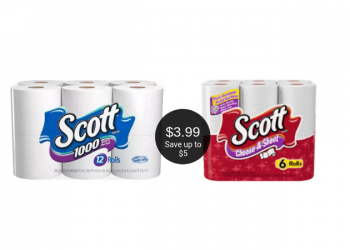 Scott Paper Products Just $3.99 With Coupon and Sale at Safeway