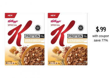Kellogg's Special K Protein Cereal Coupons  Sale at Safeway – Pay as low as $.99, Save 77%
