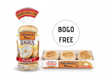 Thomas Bagels and English Muffins Buy 1, Get 1 FREE Sale at Safeway