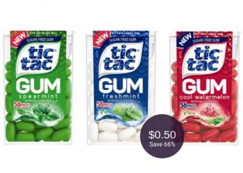Tic Tac Gum for $0.50 After Deal at Safeway