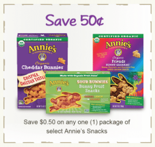 annie's Organic Snacks Coupon