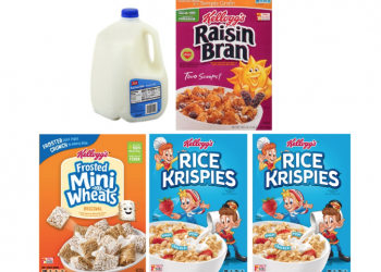 Free Gallon of Milk With Cereal Purchase – Pay $8 for 4 Kellogg's Cereals and a Gallon of Milk at Safeway, Save $12.25